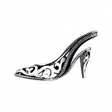 Подвеска из серебра Бальная туфелька
