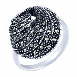 Кольцо из серебра Сказка с марказитом