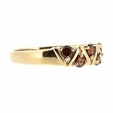 Кольцо из красного золота с раухтопазами Иоланта