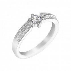 Серебряное кольцо Ария с фианитами