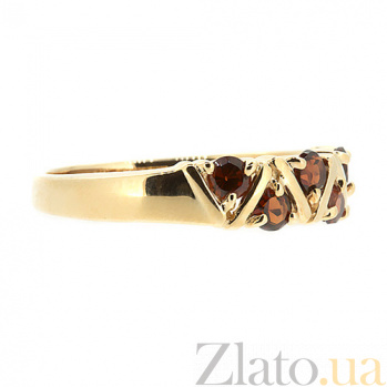 Кольцо из красного золота с раухтопазами Иоланта ZMX--RRt-32792_K