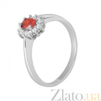 Серебряное кольцо с красным фианитом Милиани 000028309