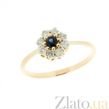 Золотое кольцо с сапфиром и бриллиантами Юна ZMX--RS-6668_K