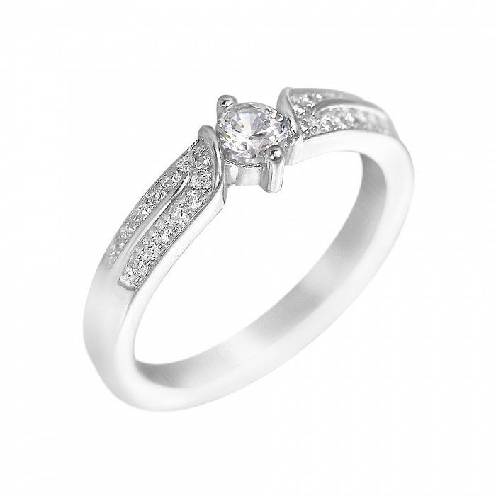 Серебряное кольцо Ария с фианитами 000081630