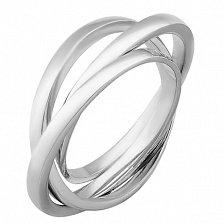 Серебряное тройное кольцо Восхищение