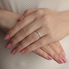Кольцо из белого золота Эмилиена с бриллиантами