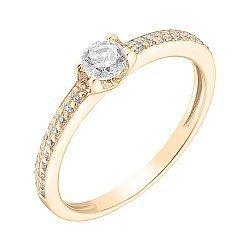 Кольцо в красном золоте Адриана с фианитами 000041066