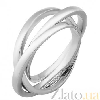 Серебряное тройное кольцо Восхищение 000032457