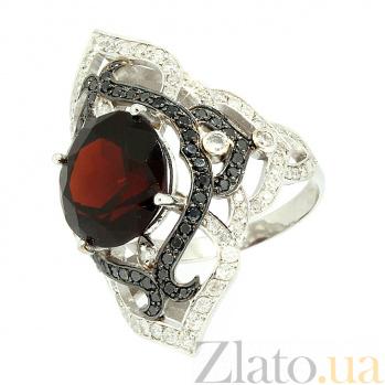 Золотое кольцо с бриллиантами и гранатом Devi ZMX--RDDbGn-00107w