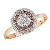 Кольцо в красном золоте Лилия с бриллиантами