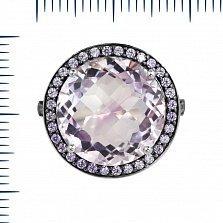 Серебряное кольцо Анна с аметистом и фианитами