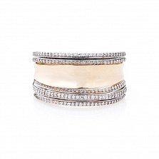 Золотое кольцо Делавер с фианитами