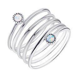 Серебряное кольцо с опалами 000139656