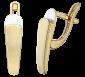 Серебряные серьги с позолотой Донна SLX--С32а/228