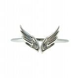 Серебряное фаланговое кольцо Крылья