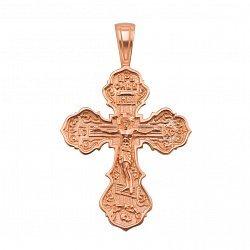 Крестик Моя вера и спасение в красном золоте