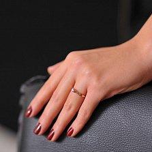 Кольцо из красного золота с бриллиантом Дианта