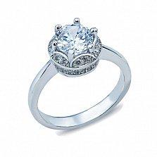 Серебряное кольцо с цирконием Королевна