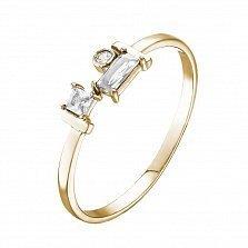Кольцо в желтом золоте Марисабель с фианитами