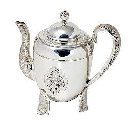 Серебряный чайник Розарий 000043550