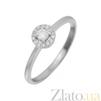 Золотое кольцо белого цвета с бриллиантами Счастливое сердце 000032303