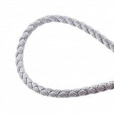 Шелковый шнурок Мироздание с серебряной застежкой и чернением