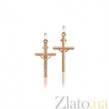 Золотой крестик Щит EDM--КР019