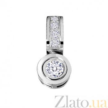 Золотой подвес с бриллиантами Шейла KBL--П024/бел/брил