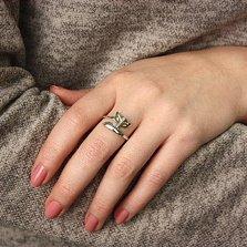 Серебряное кольцо Лисёныш