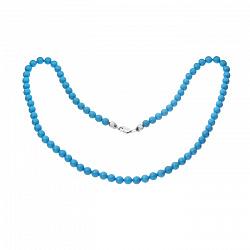 Ожерелье из бирюзы Аквантика с серебряным замком 000049273