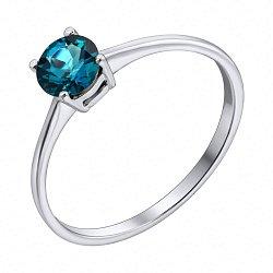 Серебряное кольцо с лондон топазом 000103056