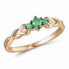 Кольцо из красного золота с изумрудами Андреа