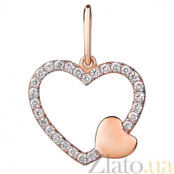 Золотая подвеска Ты в моем сердце SUF--422677