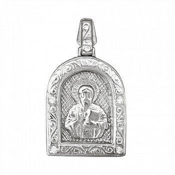 Серебряная ладанка с фианитами Небесный заступник 000028537
