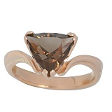 Золотое кольцо с раухтопазом Киселин