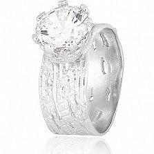 Серебряное кольцо Джуна с фианитом