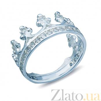 Серебряное кольцо Корона с фианитами AQA--Щ-704727