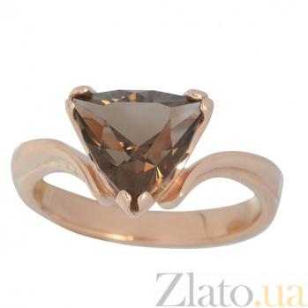 Золотое кольцо с раухтопазом Киселин 000019703