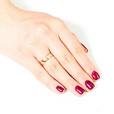 Золотое обручальное гладкое кольцо Традиции