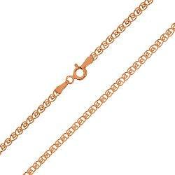 Серебряная цепь с позолотой, 2 мм 000072080