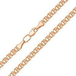 Цепочка из красного золота в плетении лав 000133876
