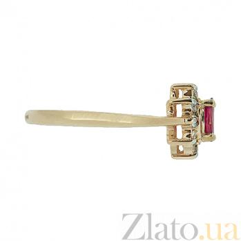 Золотое кольцо Малинка в красном цвете с рубином и бриллиантами ZMX--RR-4235_K