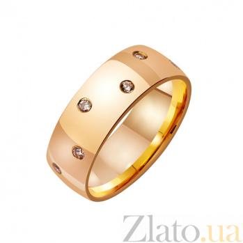 Золотое обручальное кольцо Ты мое сердце с фианитами TRF--4121011
