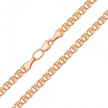 Ланцюжок з червоного золота в плетінні лав 000133876