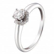Кольцо из белого золота Сусанна с бриллиантами