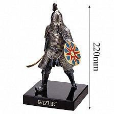 Бронзовая скульптура Воин Золотой Орды на обсидиановой подставке