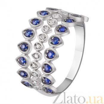 Кольцо из белого золота с сапфирами и бриллиантами Ирида KBL--К1009/бел/сапф