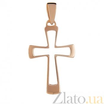Крестик из красного золота Абрис SVA--3001110101/Без вставки