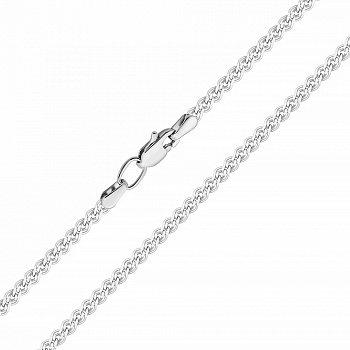Серебряная цепочка в плетении нонна с алмазной гранью 000118278