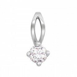 Золотой кулон в белом цвете с бриллиантом 000124462